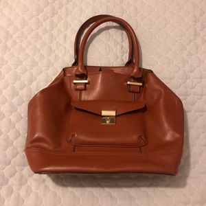 Aldo brown tote bag with gold detailing